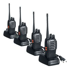 Walkie Talkie 4PCS BaoFeng Bf-888S Two Way Handheld Pofung Radios Transceiver UHF 5W 400-470MHz 16CH Cb Radio