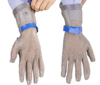 Anti Cutting Steel Wire Anti Electric Saw Safety Glove Stainless Steel Rings Reinforced And Fishing Killing