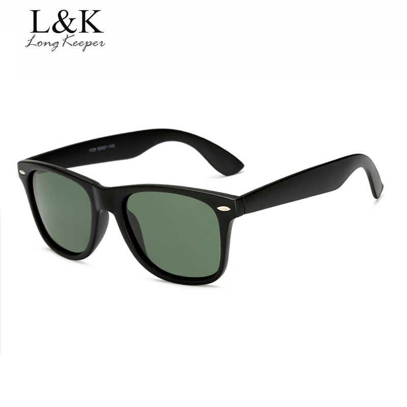 طويل حارس العلامة التجارية للجنسين ريترو الاستقطاب النظارات الشمسية الرجال النساء Vintage نظارات اكسسوارات أسود رمادي نظارات شمسية للذكور/الإناث