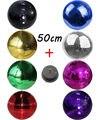 """D50cm 19.7 """"polegadas grande Salão Fase de Reflexão da Luz de Discoteca Espelho Bola Bola De Vidro Colorido big Balls Com dispositivos elétricos Do Motor"""