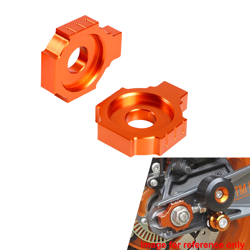 Rear Axle Spindle Chain Adjuster For KTM RC125 RC200 RC390 2014-2019 125 200 390 Duke 2011-2015 2016 2017 2018 2019 RC 125 390