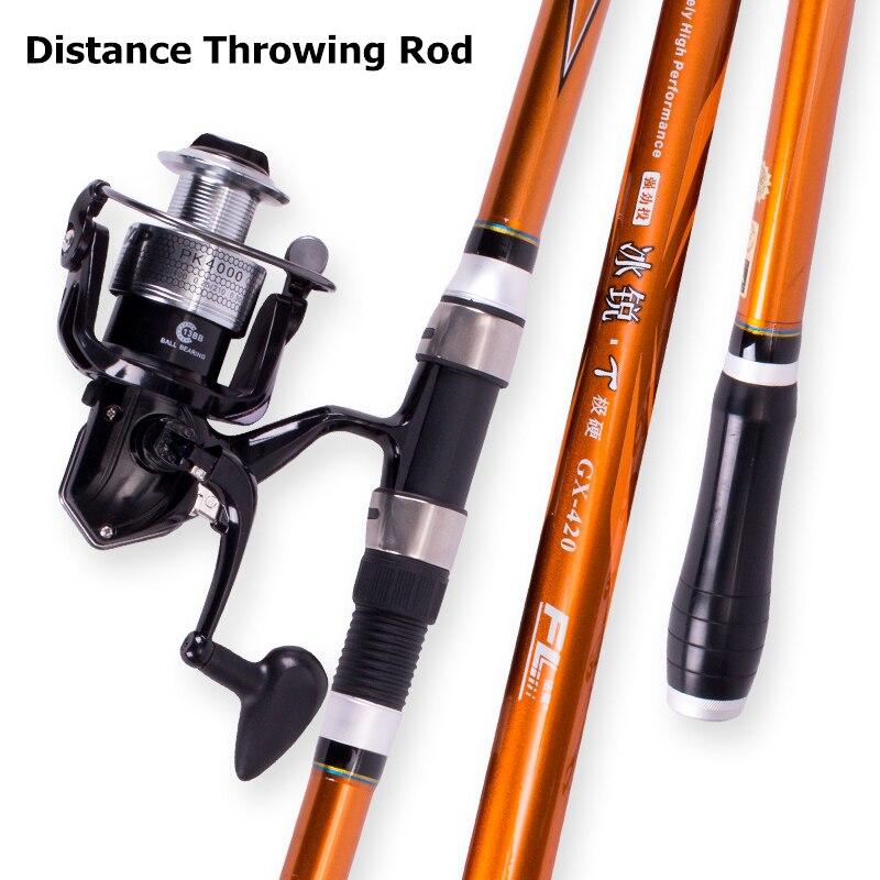 Quality Distance Throwing Rod 3.0m 3.3m 3.6m 3.9m 4.2m 4.5m Spinning Fishing Rod Power Telescopic Rock Carp Feeder Fishing Rod