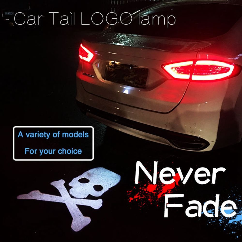Car Laser Tail Logo Led Light Anti Collision Rear-end Car Laser Taillights Fog Light Auto Brake Parking Lamp Rearing Warning car auto accessories 4d car logo light case for mazda 2 3 6 8 cx 7 rear car badge light auto led logo lamp auto emblem light