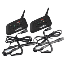 2 unids V6 BT Interfono Intercomunicador Bluetooth Headset Inalámbrico Juego de Fútbol Árbitro Juez Bicicleta Conferencia de música Estéreo