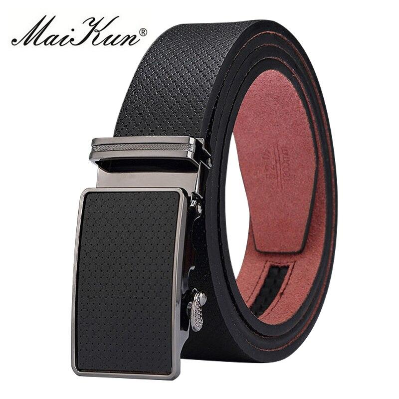 Maikun Belts for Men Belt Vintage Style Genuine Leather Male Belt High Quality Automatic Buckle