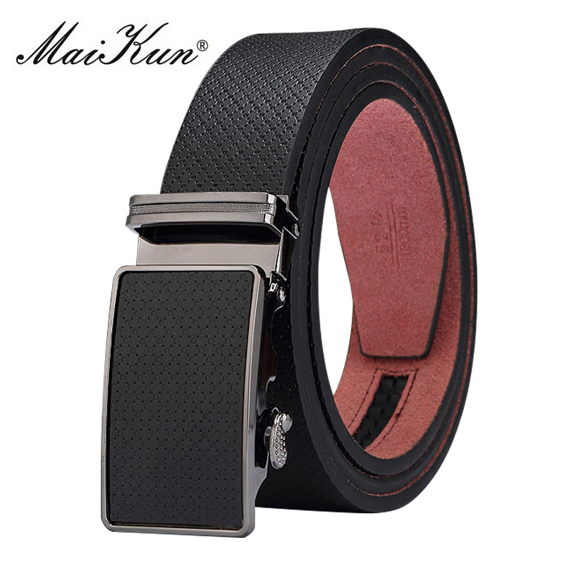 Maikun Men's Belts Vintage Genuine Leather Belt High Quality Automatic Buckle Belt