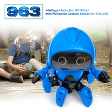 Christmas 963 Intelligent Induction Remote RC Robot Toy Model with Following Gesture Sensor Obstacle Avoidance for Kids Present