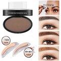 2017 Nuevo Maquillaje de Ojos Cejas Herramienta de Diseño fácil de Usar Maquillaje En Polvo Ceja Impermeable Negro Marrón Con Cejas Sello
