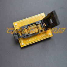 QFP80 test socket TQFP80 LQFP80 IC51-0804-566 IC TEST SOCKET With PCB board Pitch=0.8mm Size=14.8x21.8mm 18.8x23.8mm