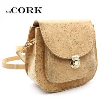 Natural cork leather Crossbody handmade women Original small vegan bag high quality European seller BAG-247 Сумка
