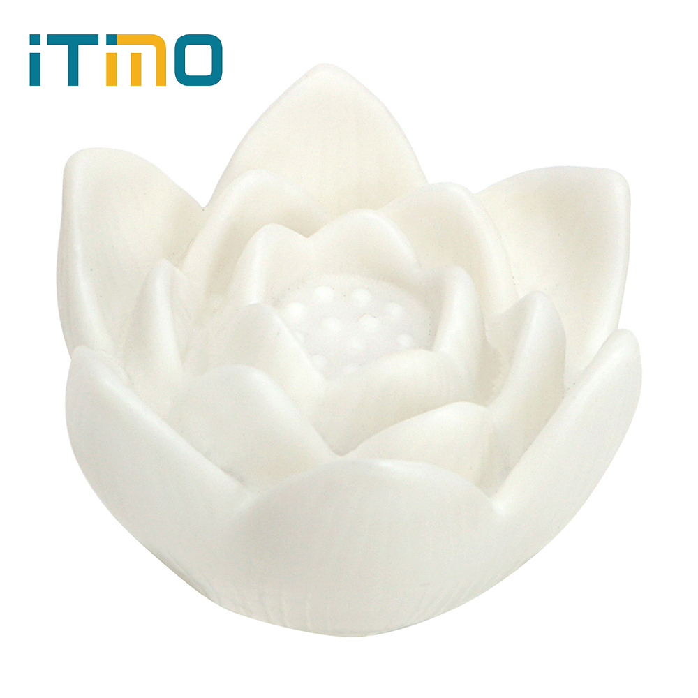 Color Changing LED Lotus Flower Night Waterproof Bed Room Lamp Wishing Lamp Home Decor R ...