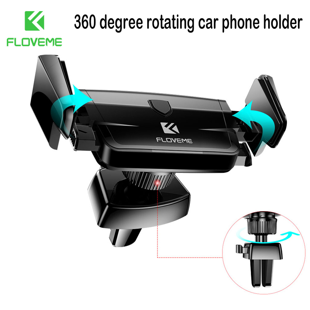 FLOVEME Universal Phone Holder For IPhone 11 Pro Max Air Vent Mout Phone Holder In Car 360 Degree Rotate Stand Phone Car Holder