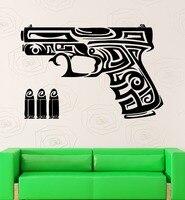 무료 배송 새로운 팔 벽 스티커 총 척 총알 무기
