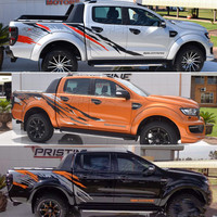 Car Stickers Both Sides Car Head Tail Decals Vinyl KK Decoration Auto Car styling Accessories For Ford RANGER Raptor F150 Pickup