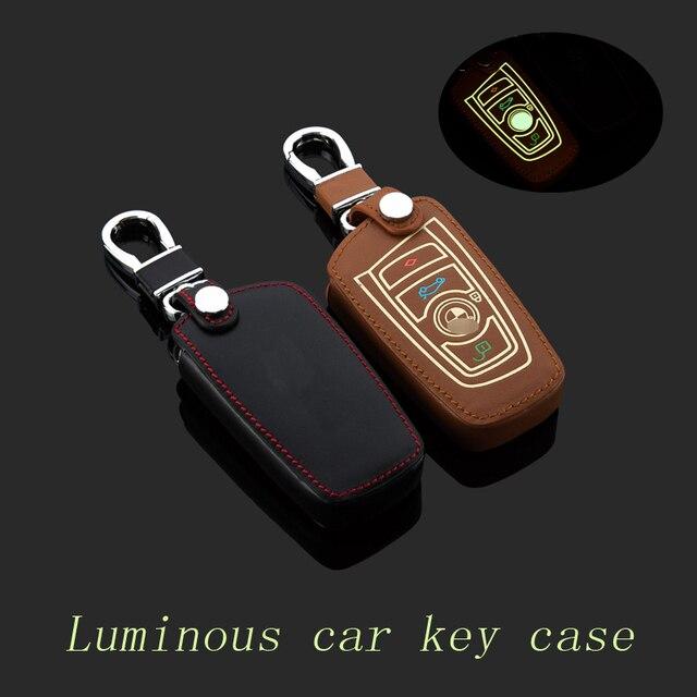 100% Подлинная Брелок Кожа Ключа Автомобиля Чехол для BMW 520 Серии GT новый 3 7 Серии X1 X3 Новый X5 X6 Умный Автомобиль Брелки кольца