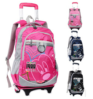 famous Brand children school bags,girls and boys trolley backpacks ...