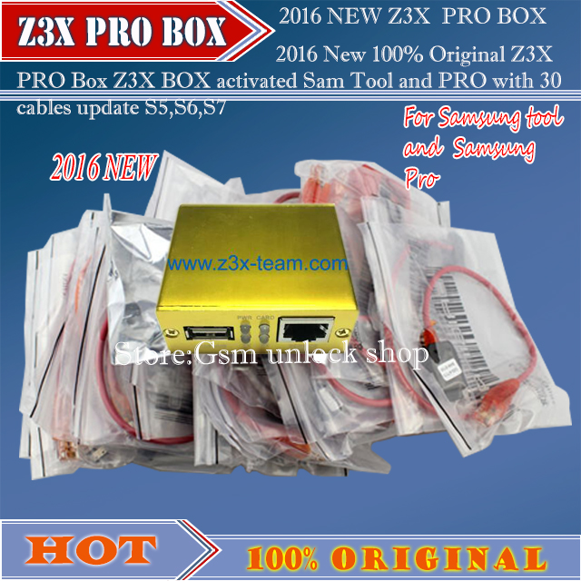 2020 New 100% Original Z X PRO Box Z X BOX Activated Sam Tool And PRO With 30 Cables Update S5,S6,S7