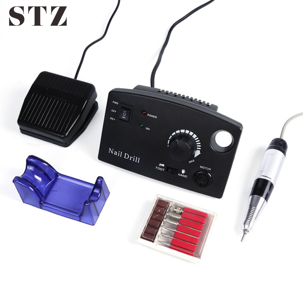 STZ Professional Electric Manicure Machine For Nail Drill Bit 30000RPM Nail Electric Equipment Apparatus Kit Pedicure File dr402STZ Professional Electric Manicure Machine For Nail Drill Bit 30000RPM Nail Electric Equipment Apparatus Kit Pedicure File dr402