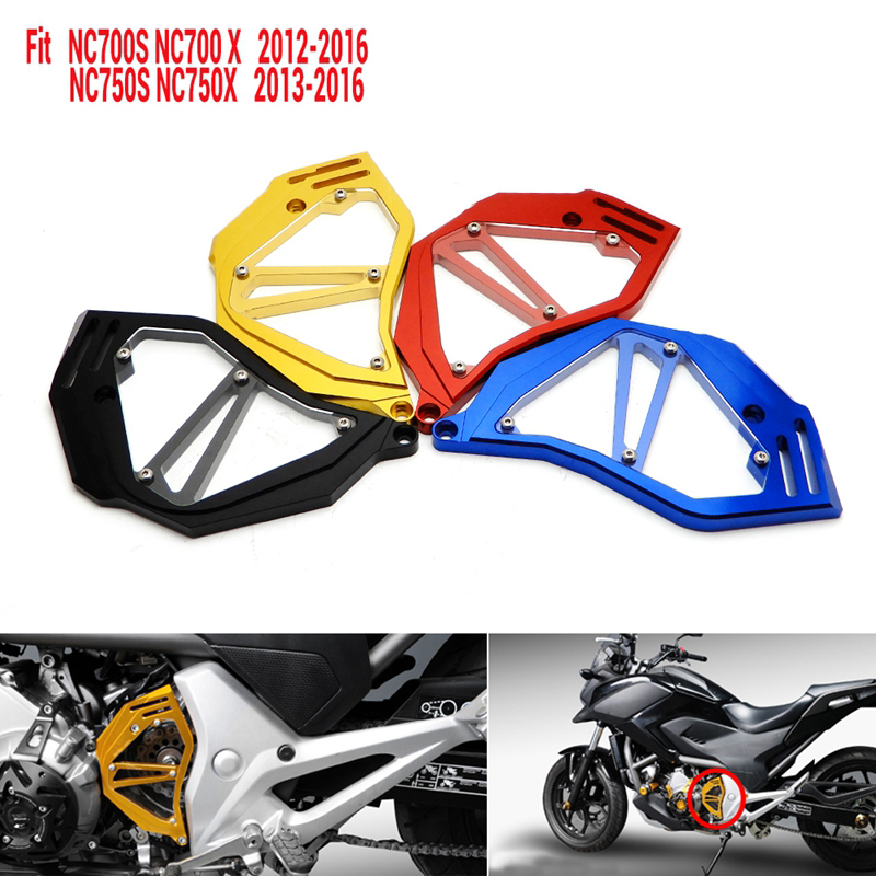 For Honda NC700X NC700S NC750X Chain Guard NC750S 2012 2013 2014 2015 2016 Front Sprocket Cover Protector 6061-T6 Aluminum Alloy bjmoto for yamaha mt07 2013 2014 2015 2016 fz07 2015 2016 red cnc front sprocket guard chain cover left side engine