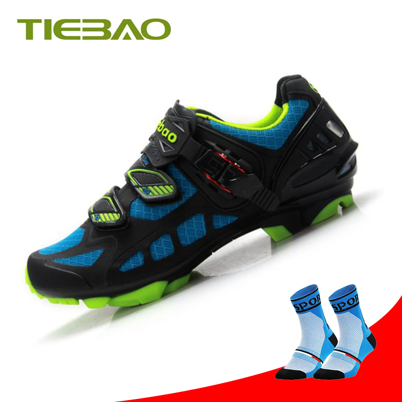 Tiebao cycling shoes sapatilha ciclismo mtb Cycling Sneakers self-locking bicycle men Breathable Mountain Bike Shoes