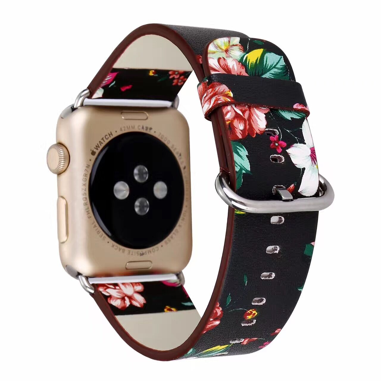 Floral Printed Leather Band Strap for Apple Watch band 42mm/38mm 40mm 44mm Flower Design Wrist Watch Bracelet for iwatch 1/2/3/4 ashei fashion flower design strap for apple watch 3 band leather series 2 1 floral printed bracelet 38mm for iwatch bands 42mm