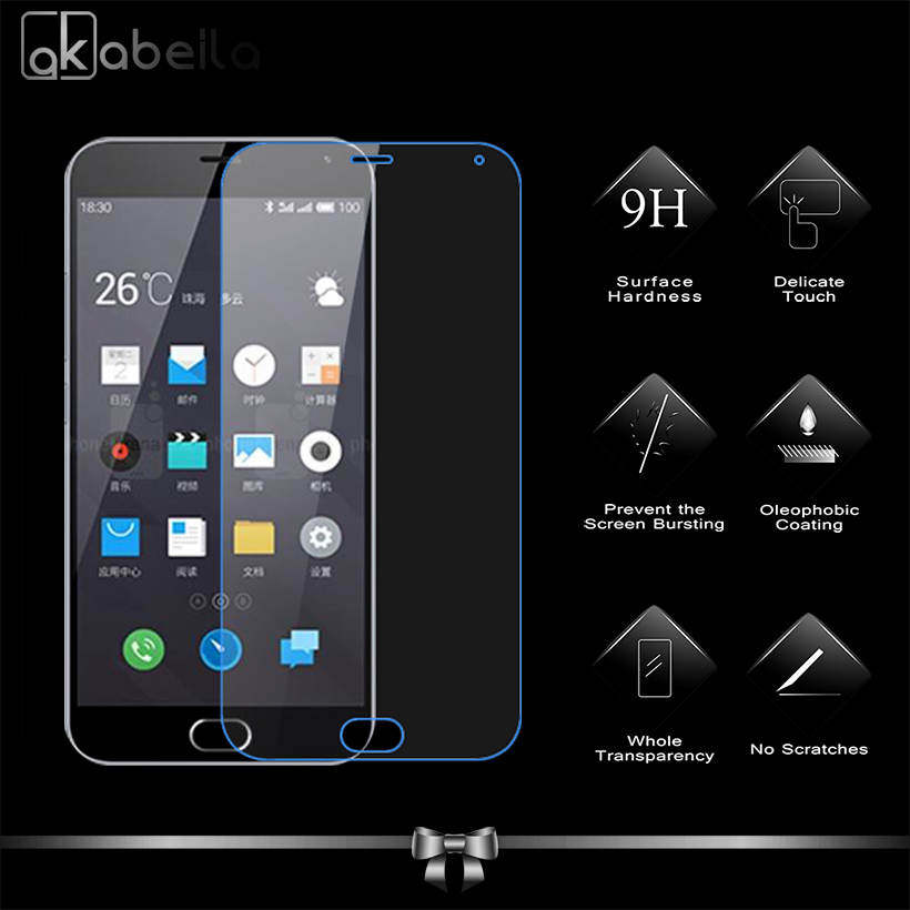 AKABEILA Glass Screen Protector For Meizu M2 Note Meilan Note 2 4G LTE Dual SIM M2Note Premium Protective Toughened Film