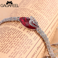 Fashion Women Wedding Jewelry Free Shipping 925 Sterling Thai Silver Vintage Watch band Bracelets Natural Corundum Bangles 78S7
