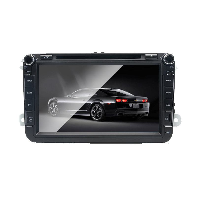 DVD de voiture Android 7.1 2 DIN pour VW JETTA GOLF MK5 MK6 GTI PASSAT B6 POLO SKODA Fabia GPS Navigation Radio USB/SD carte de pays PC