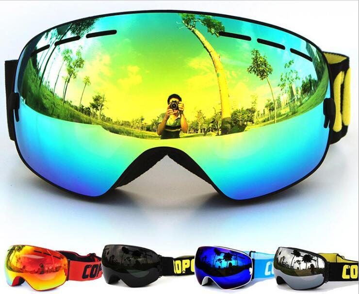 Grand professionnel sphérique double anti-buée lunettes de ski respirant lunettes de Ski protection Uv lunettes de ski