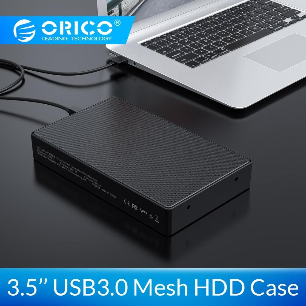 ORICO 3.5 SATA To USB 3 Adapter HDD Case External Hard Drive Enclosure Reader For Samsung SSD/HDD Box Case HD 3.5