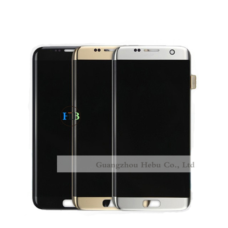 Brand New For Samsung Galaxy S7 Edge Lcd G935 G9350 G935F G935FD LCD Display Screen With Touch Digitizer Assembly 10Pcs Free DHL