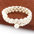 Fahsion Crystal Imitation Pearl Bracelets For Women Multi Layer Wide Bracelets & Bangles Pulseras Mujer Jewelry