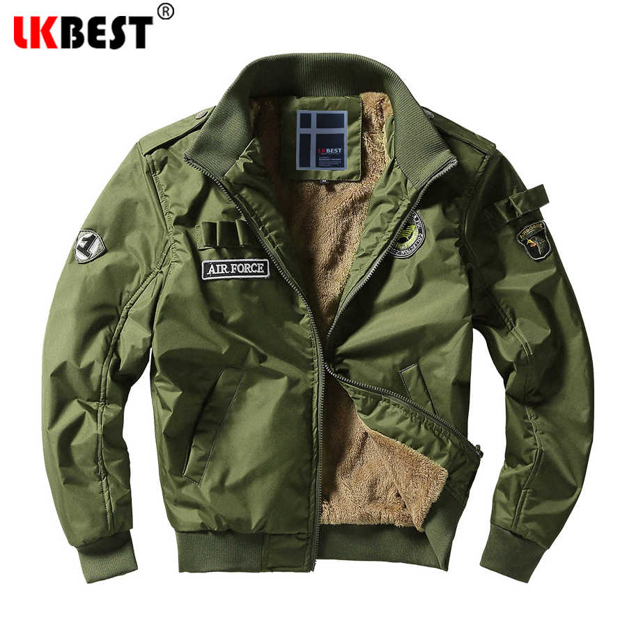 d364908afd9bd LKBEST 2019 Winter jacket men Military Pilot Jacket Air Force Men Jackets  Windproof Thicken Coat men