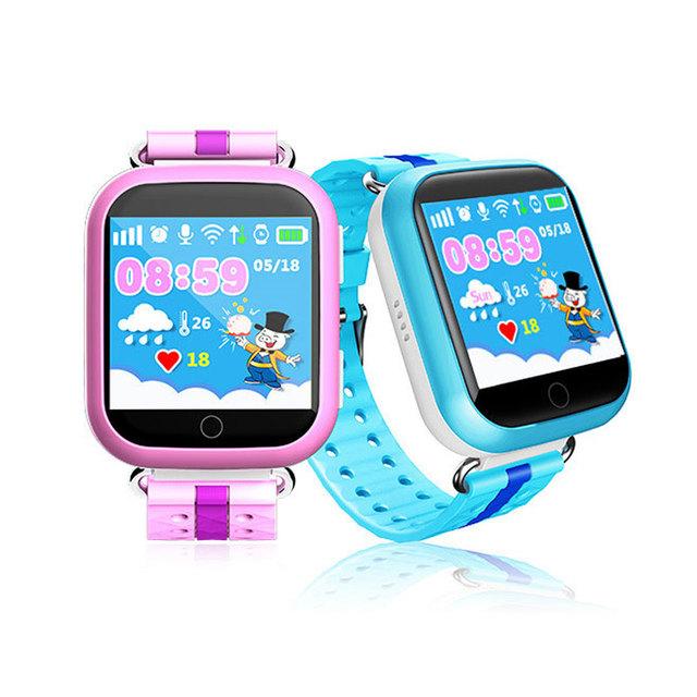 Gps smart watch q750 bebê assistir com wifi 1.54 polegada toque tela de Chamada SOS Localização WI-FI Rastreador para Criança Seguro Anti-Lost Monitor de