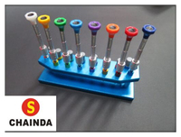 Free Shipping 8 Pcs High Quality Watch Screwdrivers with Metal Stand Tool for Watch Repair