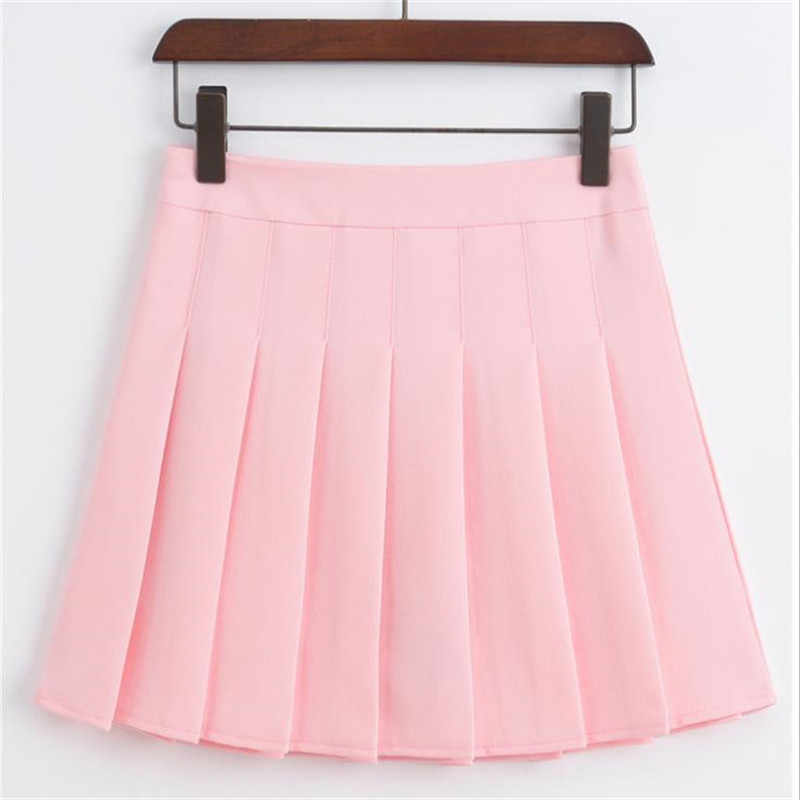527a0fe12c Merry pretty High Waist Short School Pleated Skirt Women's Mini Sexy Pink  Summer Skirts Womens Leggings