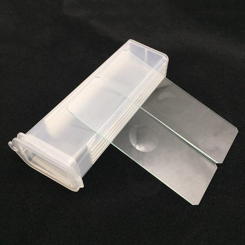 5 PCS Reusable Laboratorial Single Concave Microscope Blank Glass Slides 7103 Lab Consumables For Liquid Specimen Wholesale