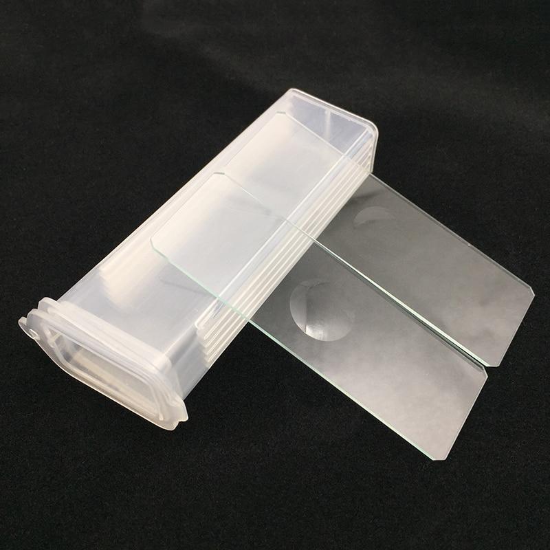 5 PCS Riutilizzabile Laboratoriale Singolo Concavo Microscopio In Bianco di Vetro Presentazioni aziende produttrici giochi 7103 di Laboratorio di Consumo per Liquido Campione del Commercio All'ingrosso