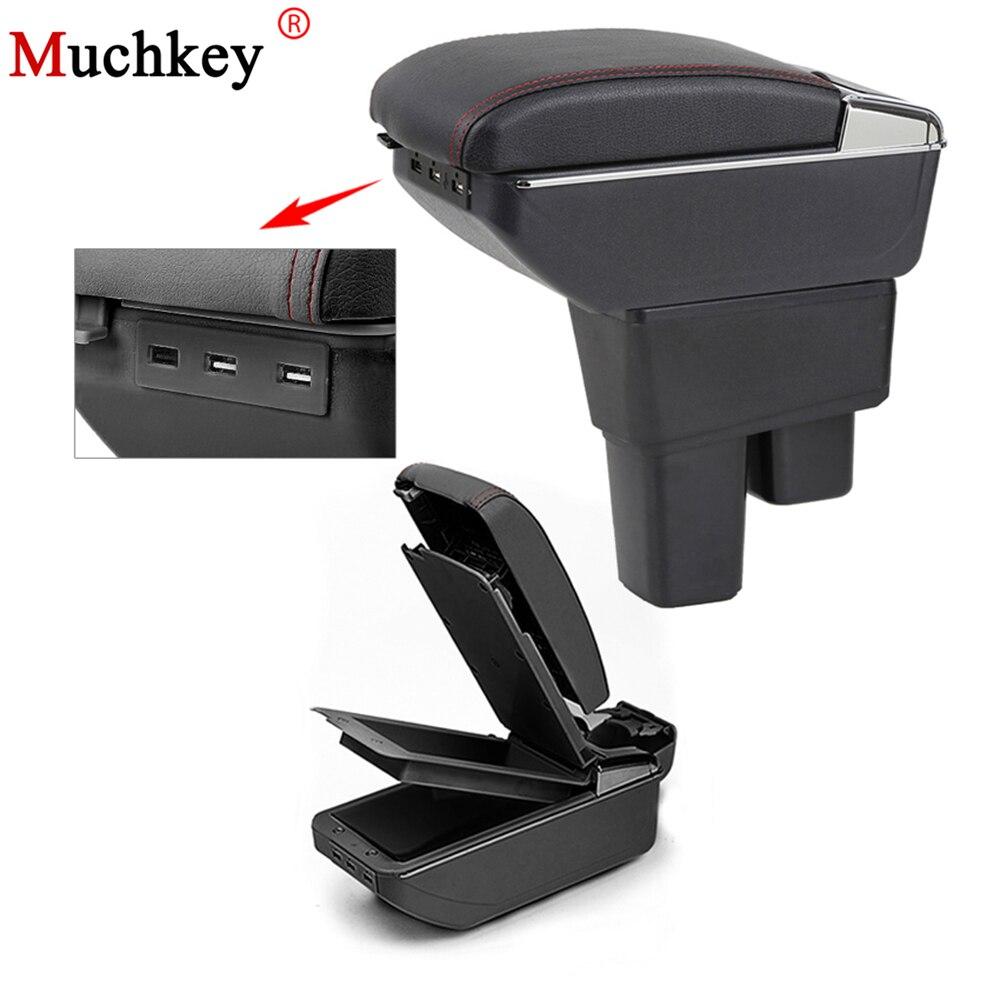 Автомобильный USB центральный консольный ящик для хранения содержимого рук для Honda Fit Jazz 2008 до 2013 GE подлокотник коробка вращающийся Подстакан