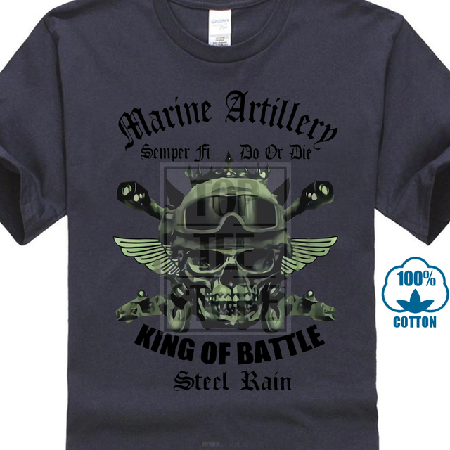 2bdb664b Usmc Field Artillery T Shirt King Of Battle Steel Rain Us Marines Semper Fi  Tee