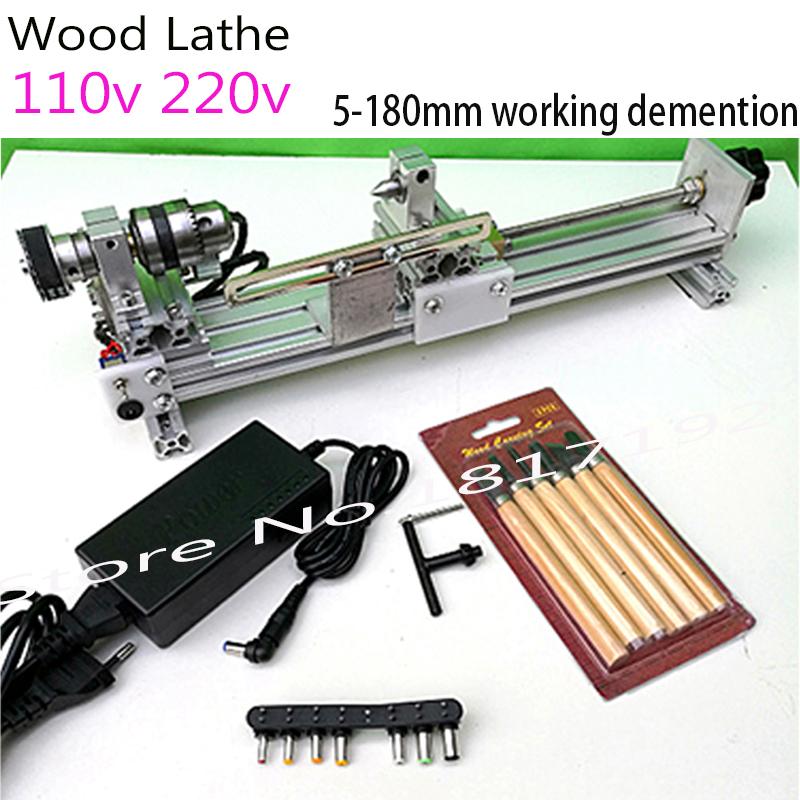 DIY Wood Lathe Mini Lathe Machine Polisher Table Saw for polishing Cutting,metal mini lathe/didactical DIY lathe ship by DHL adjustable double bearing live revolving centre diy for mini lathe machine