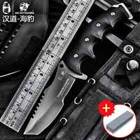 HX açık sertlik yüksek taktik bıçak çok aracı yüzey kaplama titanyum Sabit siyah Bıçak Kamp Aracı survival avcılık knive