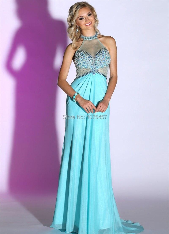 Aliexpress.com : Buy Latest Design Pale Blue Long Elegant Prom ...