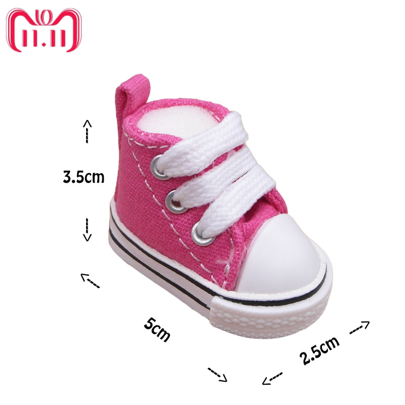 5f4e929e4263e Tilda 5cm Canvas Doll Shoes 1/6 for EXO Dolls,Textile Denim Canvas BJD Toy  Shoes Bjd Snickers For KPOP Rag Dolls Accessories Toy