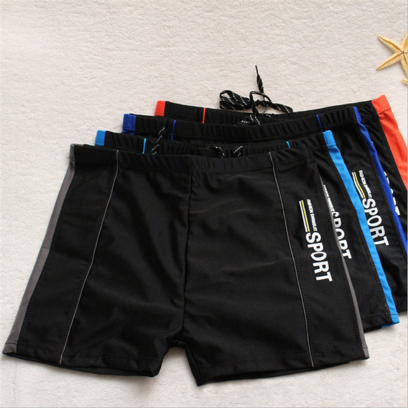 2017 New Men Swimwear Swimsuits Low Waist Men's Swimming Trunks Surf Board Shorts Mens Professional Swim Suits Swimming Boxers