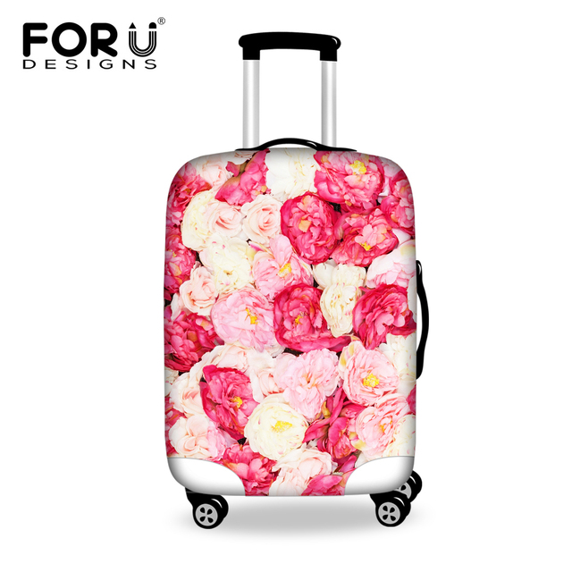 0fafff68d FORUDESIGNS Pretty Flower Anti-Dust Travel luggage Covers Suitcase  Protective Cover for Trunk Case Apply