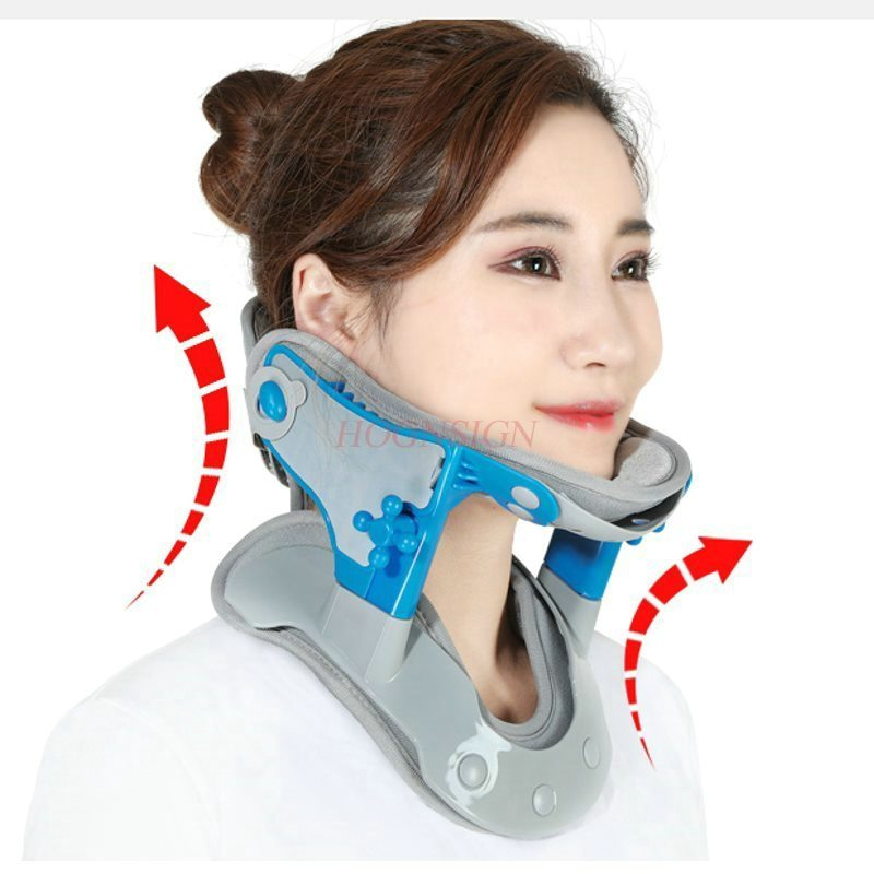 U-type cervical traction correction height adjustable medical neck fixed support warm neck cover hot compress men and women adult cervical traction apparatus inflatable support fixed tuohu neck with neck stretching his neck