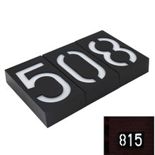 Solar Led Light 6 Illumination Doorplate Lamp House Number Outdoor Lighting Porch Lights With Battery