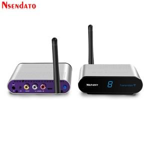 Image 4 - Measy AV220 2.4G bezprzewodowy nadajnik AV odbiornik Audio wideo TV odbiornik sygnału AV nadajnik przejść przez ścianę 200M / 660FT dla SD