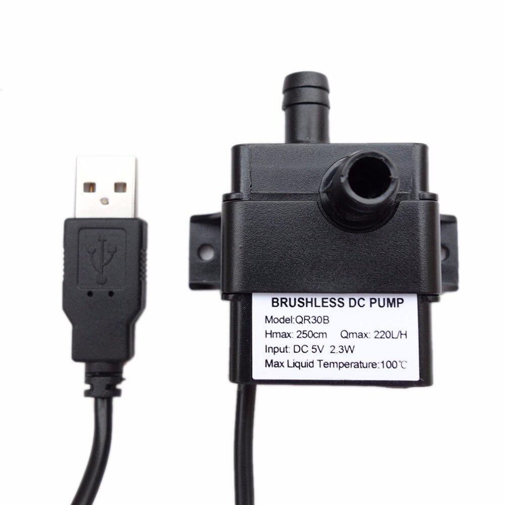 Professionnel À Faible Bruit QR30B DC 5 V 2.3 W 220L/H Débit Étanche IP68 CPU Car Refroidissement Brushless Pompe À eau Chaude Vente